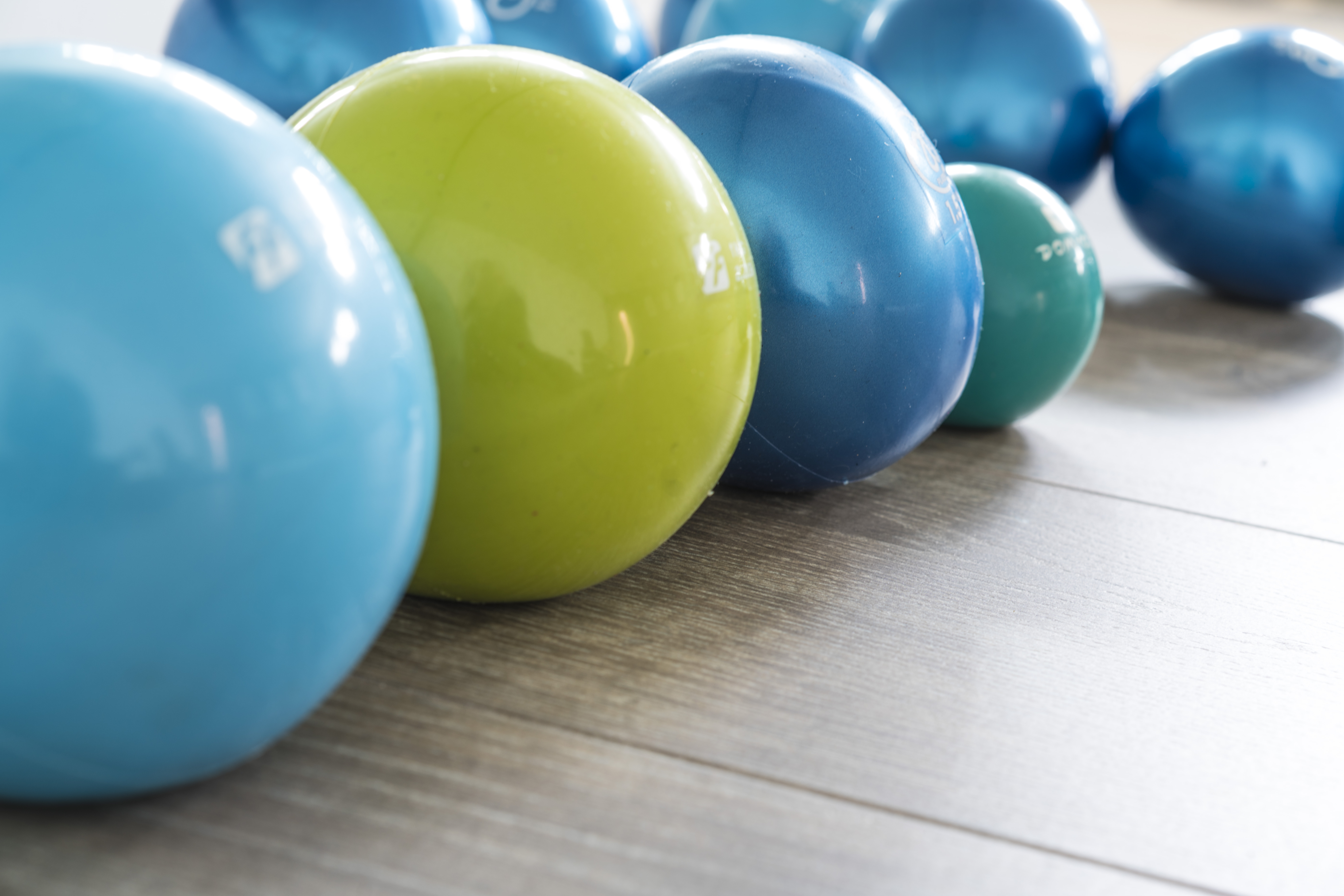 Pilates exercise balls